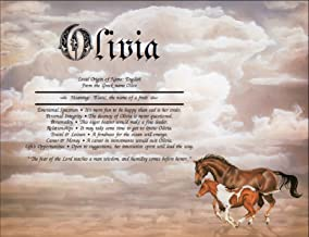 Horses 2 - Personalized ANY First Name Meaning Keepsake Print 8.5