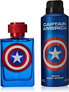 Marvel Captain America By Marvel for Kids - 2 Pc Gift Set 3.4oz Edt Spray, 6.8oz Body Spray, 2count