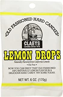 Claey's Old Fashioned Hard Candy Lemon, 6 Ounce