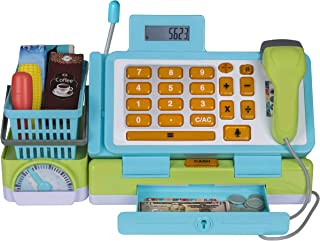 Playkidz Interactive Toy Cash Register for Kids - Sounds & Early Learning Play Includes Play Money Handheld Real Scanner W...