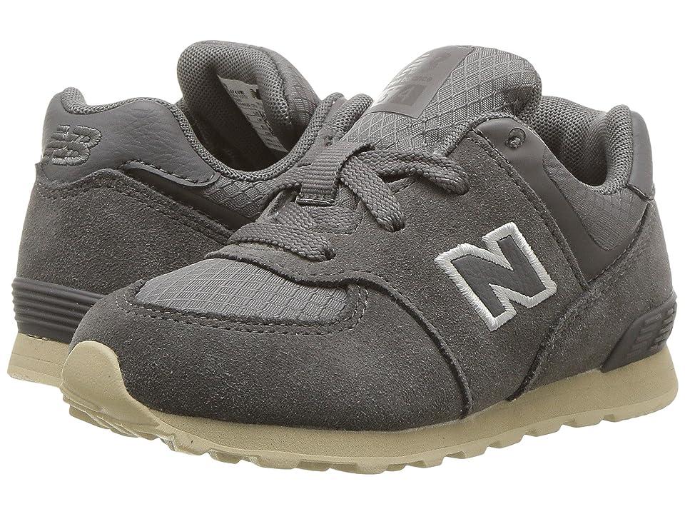 New Balance Kids KL574v1I (Infant/Toddler) (Grey/Tan) Boys Shoes
