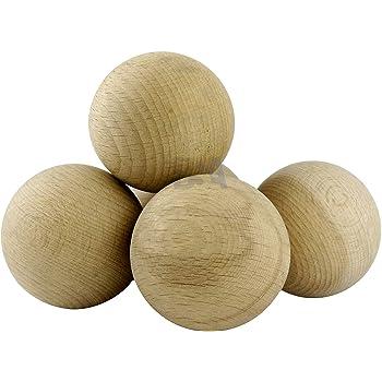 efco – Bolas de Madera sin Tratar sin un Agujero, Natural, Juego de 6: Amazon.es: Hogar