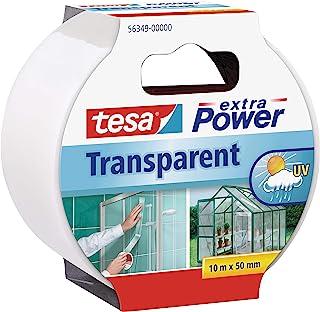 comprar comparacion Tesa extra Power Clear Duct Tape - Cinta impermeable de reparación transparente para exteriores, 10 m x 50 mm