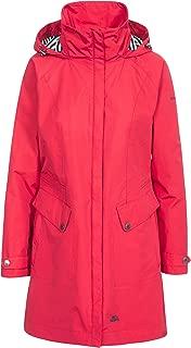 Trespass Amanita Womens Waterproof Rain Jacket Longer Length in Red /& Green