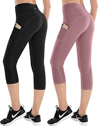 ESPIDOO Women's High Waisted Yoga Pants, Tummy Control Workout Pants for Women, 4 Way Stretch Leggings with Pockets