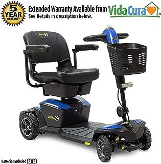 Pride Jazzy Zero Turn 4-Wheel Scooter, 4-Wheel Stability with 3-Wheel Maneuverability (Sapphire Blue)