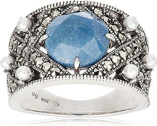[ROKUZAN] ROKUZAN 银色 蓝石英戒指