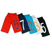 [Size 2-4Y] T2F Boys Cotton 3/4 th (Pack of 5)