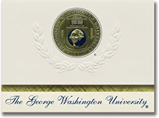 Name /& Tassel Graduation Diploma Frame 20 x 20 Gold Accent Gloss Mahogany Signature Announcements George-Washington-University Doctorate Sculpted Foil Seal