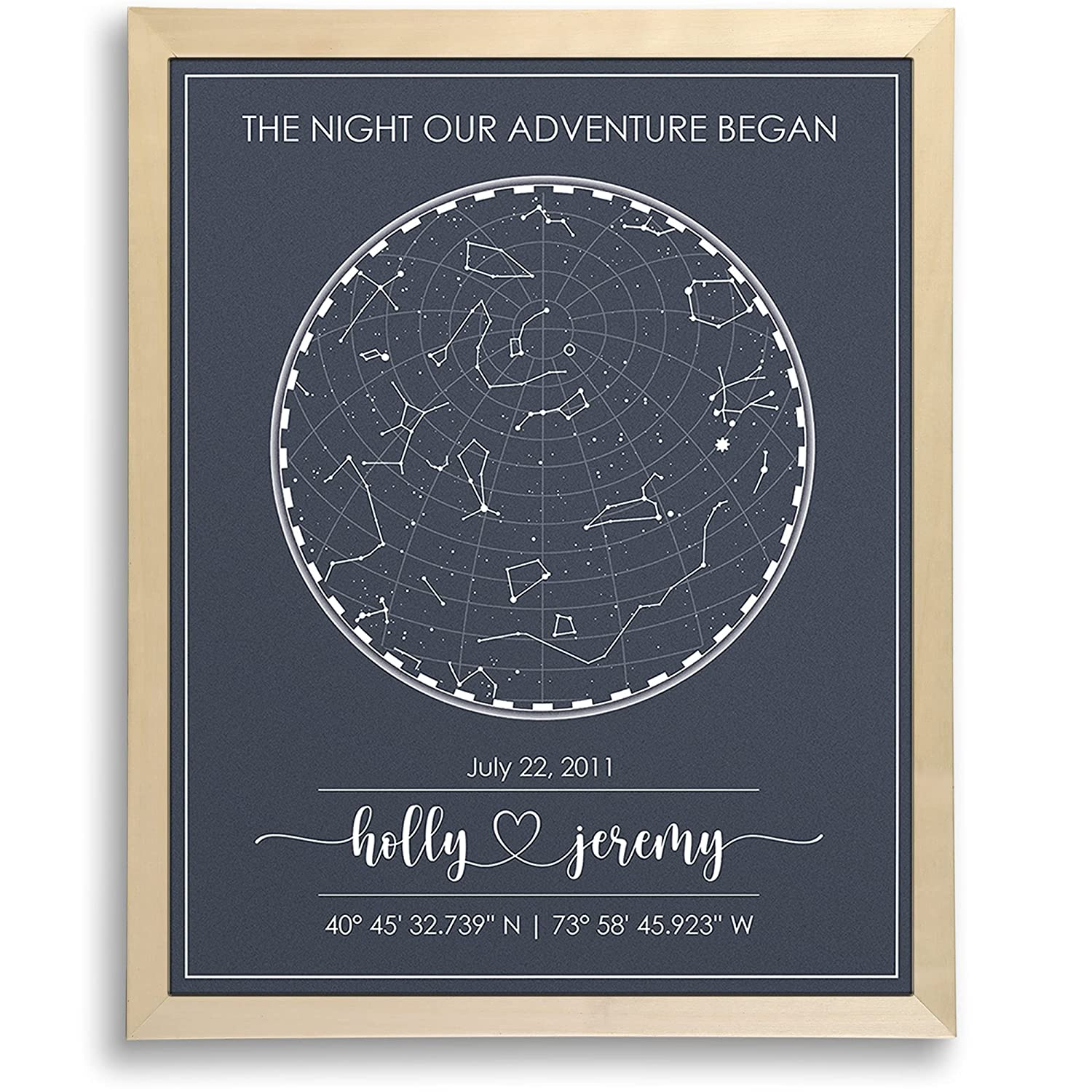 Custom service Star Map for Specific Night Art Print Personalized Over item handling ☆ Date