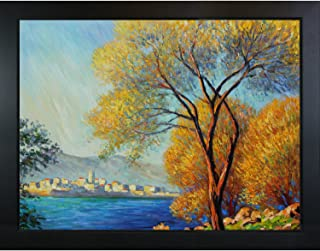 overstockArt Antibes, View of Salis Hand Painted Oil Canvas Art by Monet