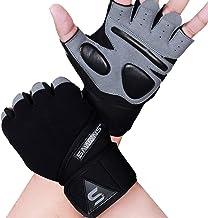 Gym Handschoenen Training Gewichtheffen Handschoenen voor Mannen Vrouwen Polsondersteuning Gewatteerde Extra Grip Palmbesc...