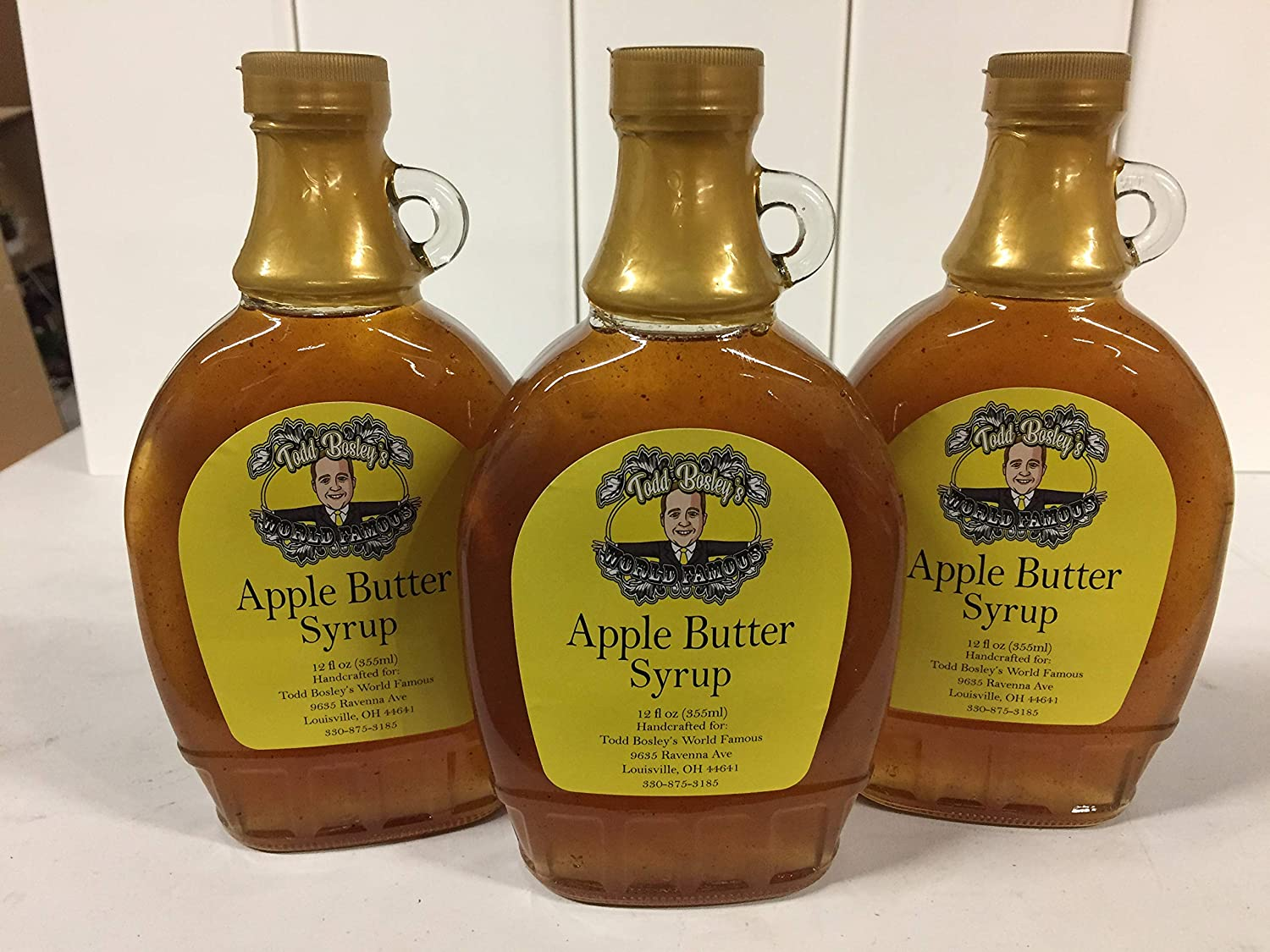 Todd Bosley's World Famous Apple San Max 83% OFF Francisco Mall Syrup 3 Pack Butter