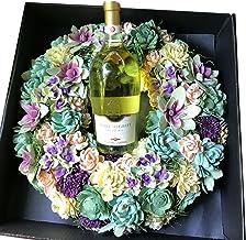 ワインとお花 野の花の香りがするイタリア白ワインとドライフラワーリースのセット ギフト 結婚祝い クリスマスリース お祝い