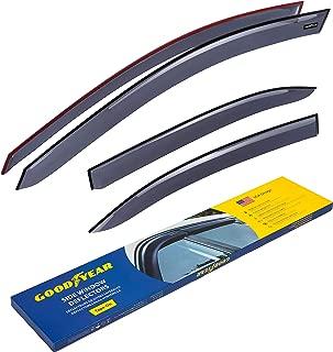 Goodyear Side Window Deflectors for Volkswagen Jetta 2011-2018 Sedan, Tape-on Rain Guards, Window Visors, 4 Pieces - GY003157
