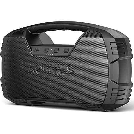 Portable Waterproof Bluetooth Speaker, AOMAIS 40Hrs Playtime Wireless Outdoor Speakers, 25W Rich Bass Impressive Sound, Stereo Pairing, Built-in Mic, 100ft Bluetooth for Party(9.5 x 3.4 x 6.5 inches)