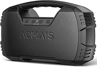 Portable Waterproof Bluetooth Speaker, AOMAIS 40Hrs Playtime Wireless Outdoor Speakers,..
