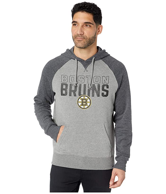 Boston Bruins Match Raglan Hoodie Vintage Grey