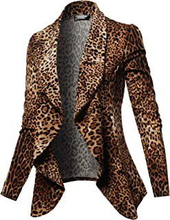 Women's Long Sleeve Classic Draped Open Front Lightweight Blazer with Plus Size
