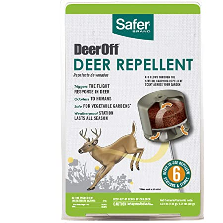 Safer Brand 5962 Waterproof Deer Repelling Stations – 6 Pack