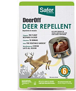 Safer Brand 5962 Waterproof Deer Repelling Stations – 6 Pack