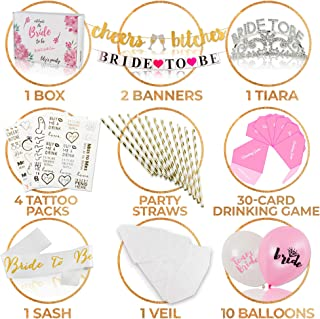 Lily's Party: All-in-one Bachelorette Party Decorations Kit - Premium Bridal Shower Set with 30-Card Drinking Game - Perfect for The Bride to Be Instagram Shot