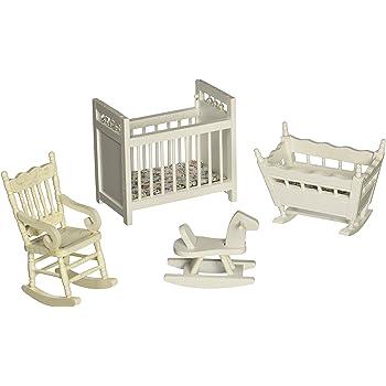 Melissa & Doug Doll-House Furniture- Nursery Set
