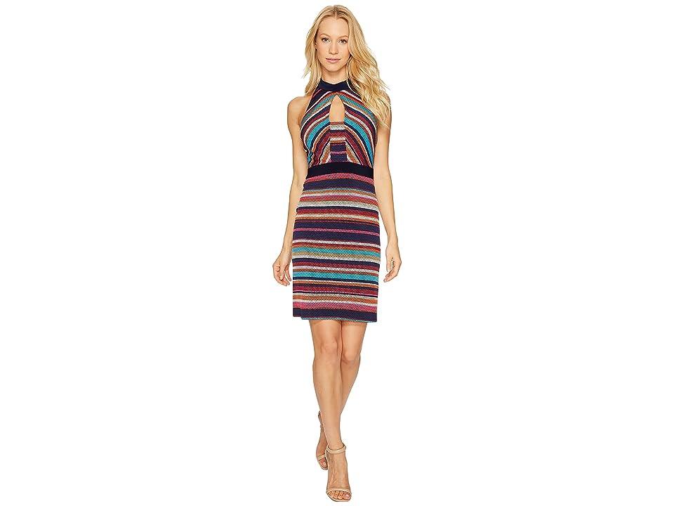 Laundry by Shelli Segal Printed Stripe Sheath Dress (Ink Blot) Women
