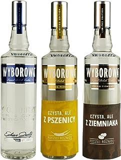 Geschenkidee Wyborowa Dreierset: Wyborowa Roggen, Weizen, Kartoffel | 3x 0,5 Liter, 40%