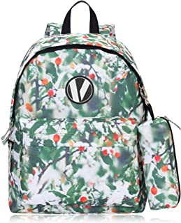 Veegul School Backpack Set with Pencil Case for Teens Boys Girls Green