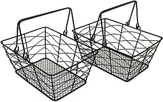 CVHOMEDECO. Paniers de fruits en fil métallique Paniers d'oeufs Paniers de collecte avec poignée Paniers de rangement anti...