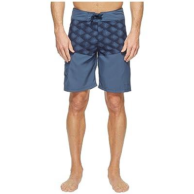 Columbia Low Drag Board Shorts (Dark Mountain Tarpon Scales) Men