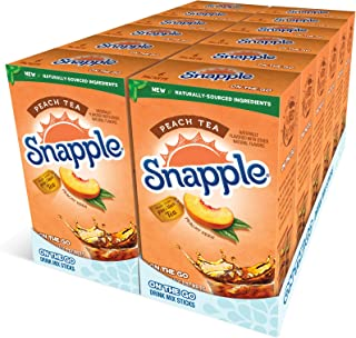 Sponsored Ad - Snapple, Peach– Powder Drink Mix - (12 boxes, 72 sticks) – Naturally Flavored, Makes 72 drinks