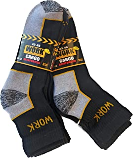Candados Socks Milano calcetines de trabajo altura caballita 6 pares punta y talón reforzados esponja de algodón