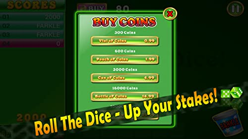 『Farkle Blitz Pro HD – 10000 Dice Addict with Friends Buddies App』の4枚目の画像