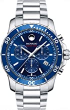 Movado Men's Series 800 Sport Chronograph Watch with Printed Index Dial, Blue/Silver/Grey (2600141)