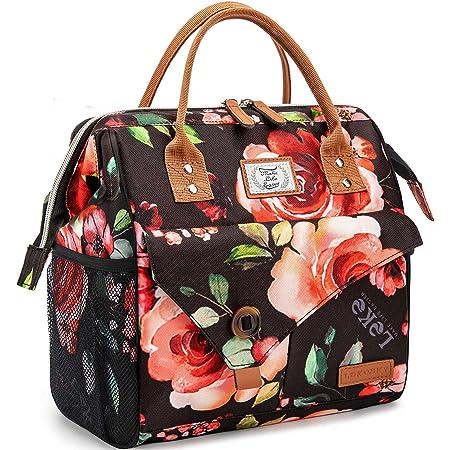 Lekesky Sac Isotherme Repas Grande Capacité 11L Fleurs, Bureau Lunch Bag Isotherme femme Pique-Nique Sac-pour Travail, École, Excursions, Shopping