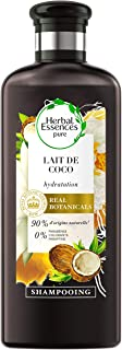 Herbal Essences - Shampoo puro al latte di cocco idratante, 90% di ingredienti di origine naturale, senza parabeni, senza ...