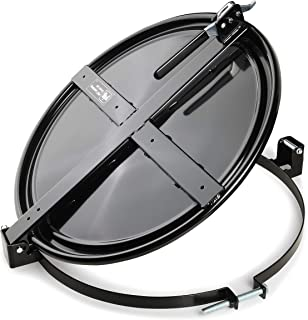 """New Pig Latching Drum Lid, For 55 Gal Steel Drums, One-Hand Latch, Bolt-Ring, Locking Lid, 26.75"""" L x 23.25"""" W x 4.375"""" H, Black, DRM659-BK"""