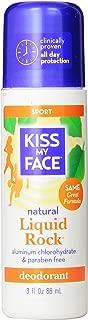 Kiss My Face Liquid Rock Aluminum Chlorohydrate Free Roll-on Deodorant, Sport, 3 Ounce