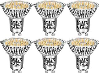 EACLL Bombillas LED GU10 10W 3000K Fuente de Luz Regulable Blanco Cálido 940 Lúmenes Lámparas Reflectoras. Atenuación de 3 Niveles Solo Con un Interruptor Normal. AC 240V Sin Parpadeo Focos, 6 Pack