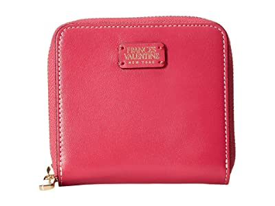 Frances Valentine Roosevelt Small Zip Around (Pink/Red) Handbags