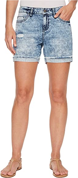 Elliot Boyfriend Shorts with Destruct in Classic Soft Rigid Denim in Stockton Destruct