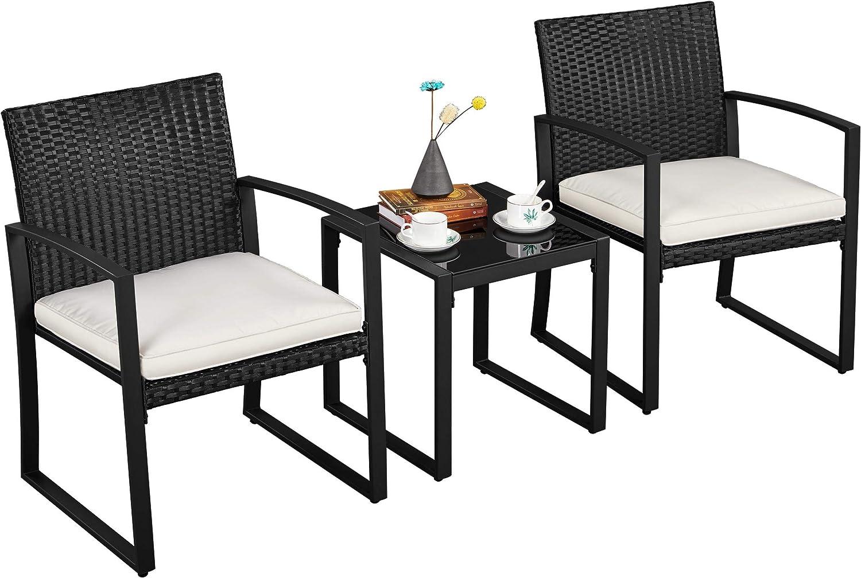 Soldering YAHEETECH 3pcs Boston Mall Outdoor Conversation Set Patio Furniture W Bistro