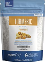 Turmeric Bath Salt 32 Ounces Epsom Salt with Turmeric, Cinnamon, Ylang Ylang, Orange and Grapefruit Essential Oils Plus Vitamin C and All Natural Ingredients BPA Free Pouch with Easy Press-Lock Seal