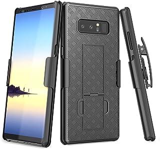 Galaxy Note 8 Case, TILL [Thin Design] Holster Locking Belt Swivel Clip Non-Slip Texture Hard Shell [Built-in Kickstand] C...