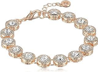 Classics Rose Gold Round Pave Flex Bracelet, One Size
