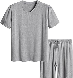 Latuza Men's Short Sleeves and Shorts Pajama Set