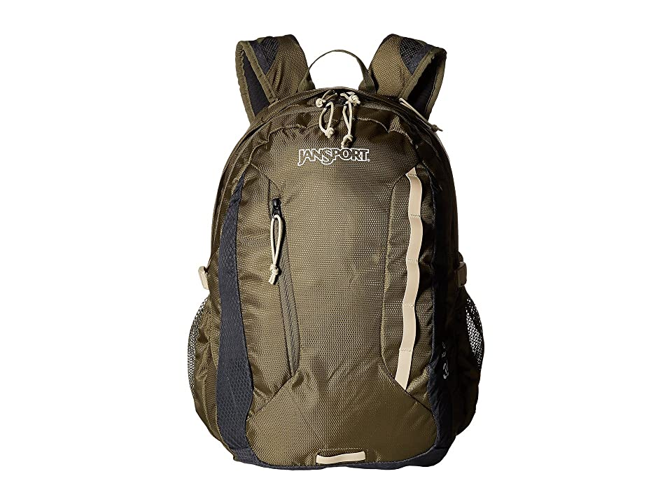 JanSport Agave (Green Machine/Grey Tar) Backpack Bags