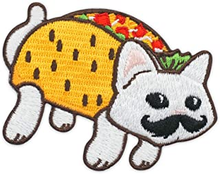Winks For Days Taco Cat Spelled Backwards is Taco Cat Embroidered Iron-On Patch